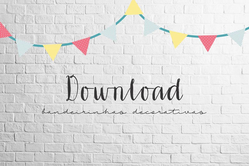 Download: Bandeirinhas decorativas
