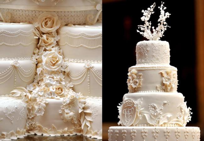 O bolo de casamento de Kate e William