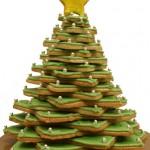 Árvore natalina de biscoitos