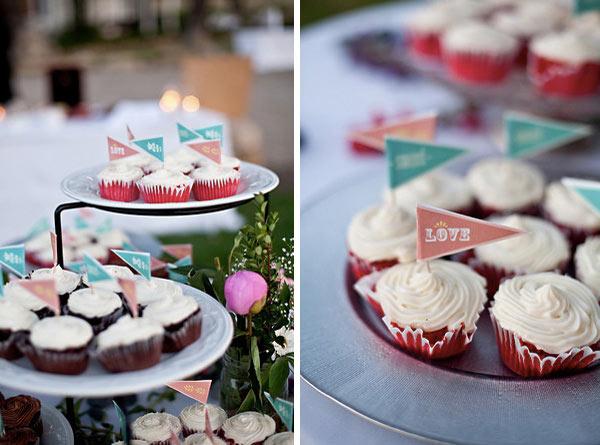 Bandeirinhas de cupcake para download