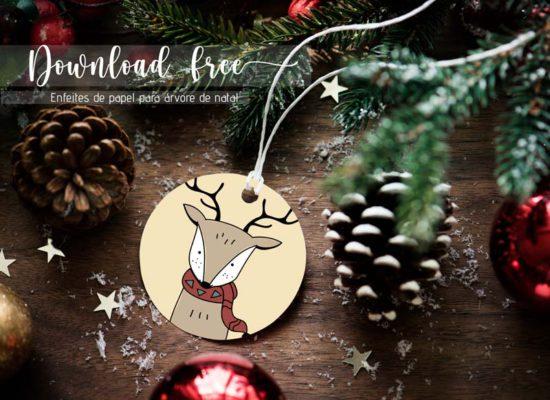 Enfeites de papel para árvore de natal: Download free!