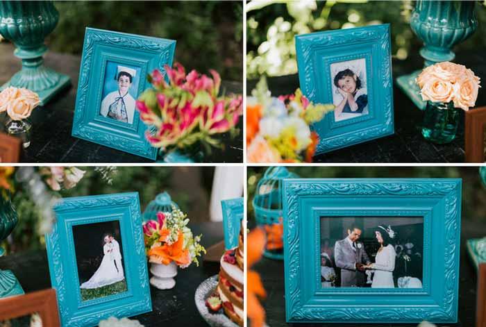 #coisinhasqueamamos: Fotos de família na decoração do casamento