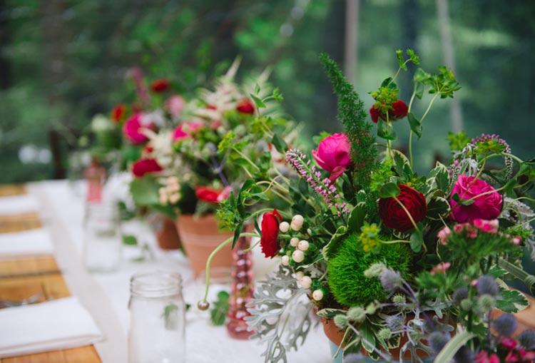 Decoração de casamento: Vermelho com rosa