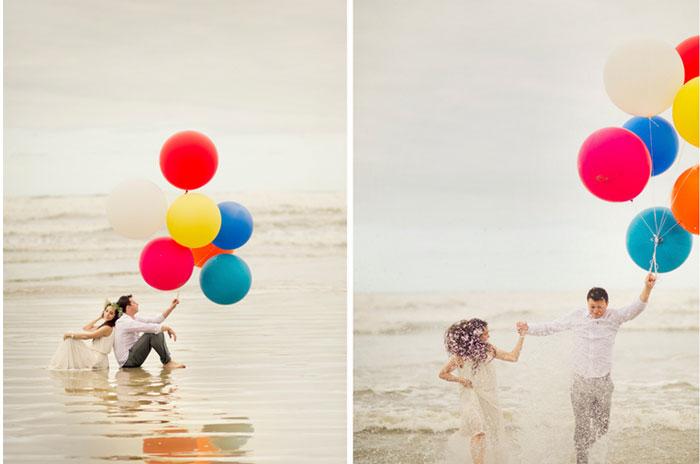 #coisinhasqueamamos: Ensaio com balões (Camila e Heverton)