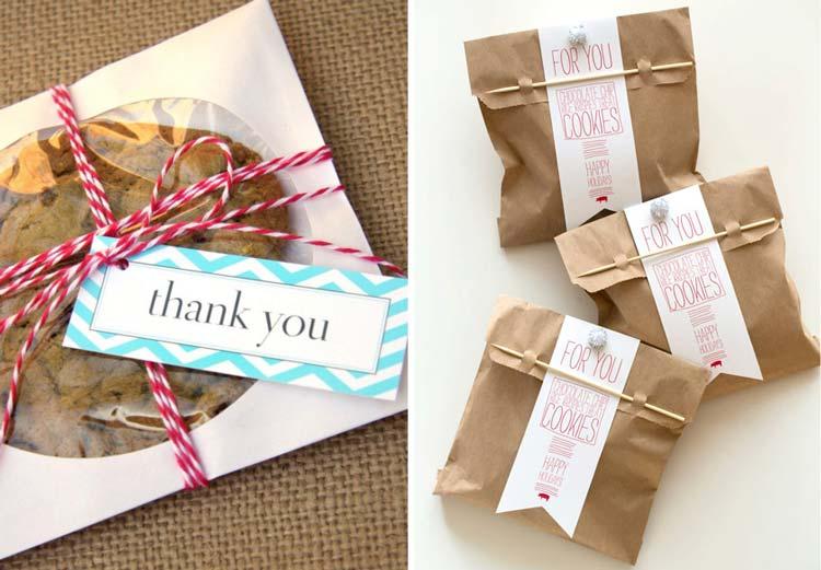 Cookies embalados – sugestão de lembrancinha para noivado