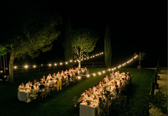 Inspiração: Iluminação de casamento