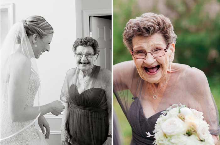 Uma madrinha de casamento especial