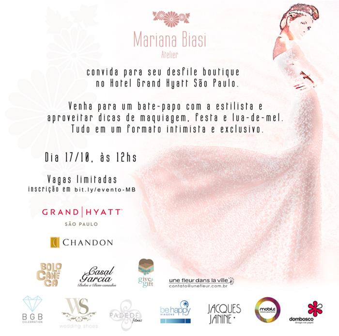 Estilista Mariana Biasi organiza evento para noivas, dia 17/10 em São Paulo