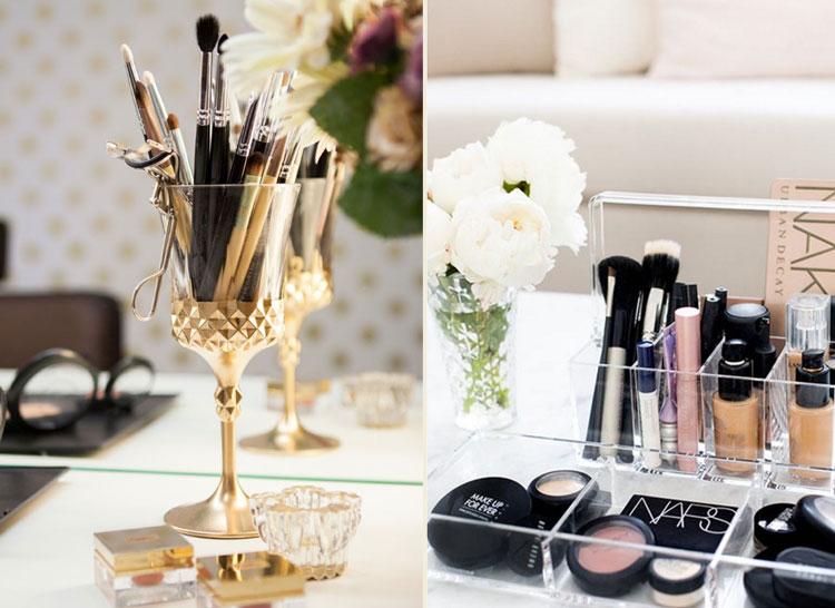 Inspirações para organizar a maquiagem