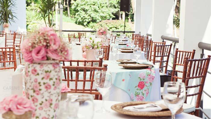 Paleta de cores para seu casamento: Azul com rosa