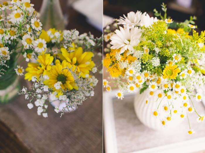 Paleta de cores para casamento: Amarelo + Branco