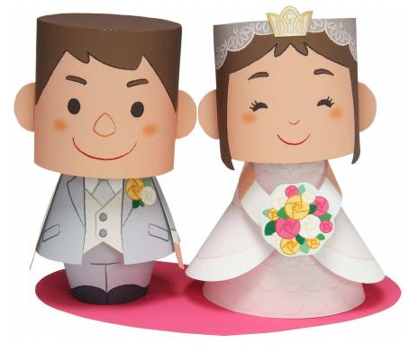 Faça você mesmo: Paper Toy para o bolo de casamento – 3 modelos para baixar