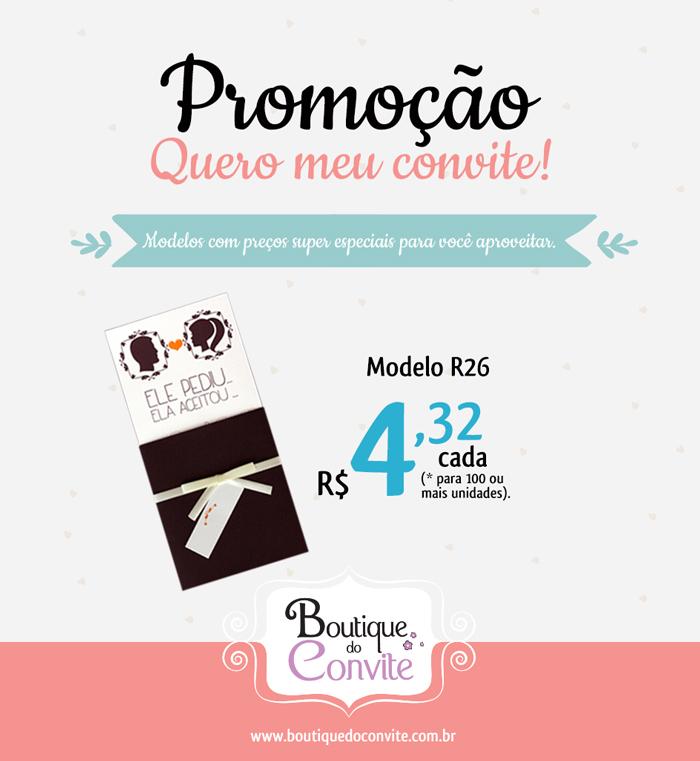 """Promoção """"Quero meu convite"""" da Boutique do Convite"""