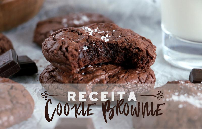receita de cookie brownie