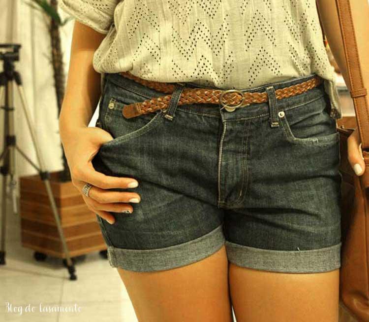 Como fazer um shorts boyfriend com a calça do namorado