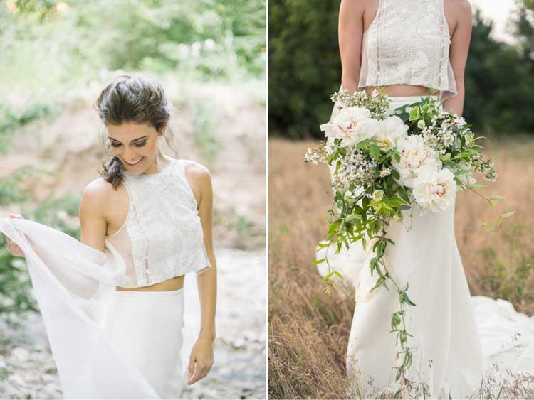 Vestido de noiva Top Cropped