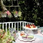 recepção no jardim