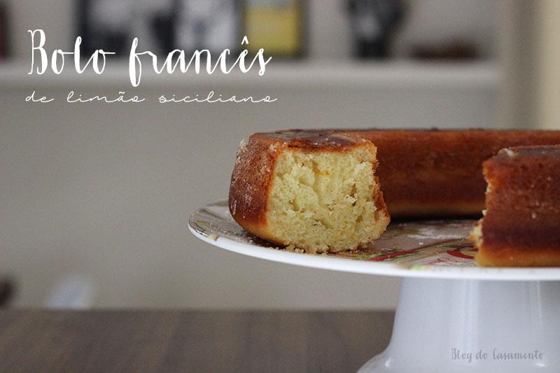 Receita: Bolo francês de limão siciliano