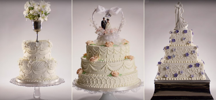 A evolução dos bolos de casamento em 100 anos