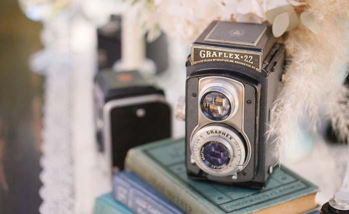 #coisinhasqueamamos: Câmeras antigas na decoração do casamento