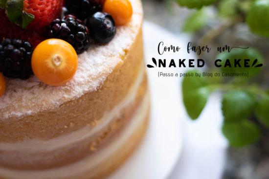 Como fazer um naked cake do zero