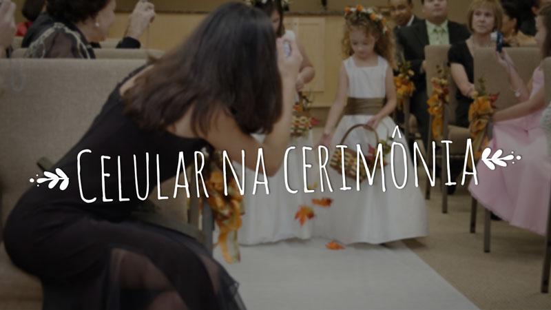 celular na cerimônia de casamento