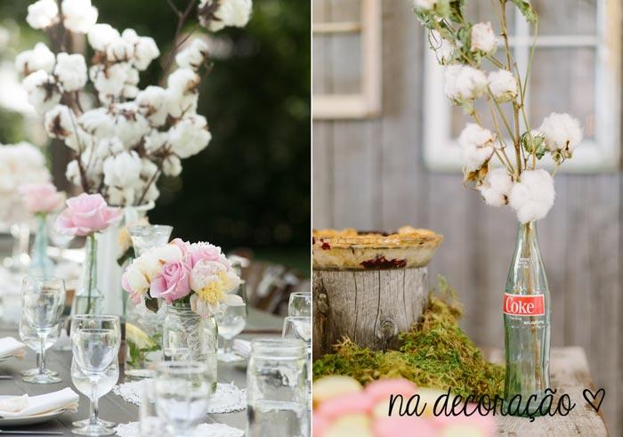 #coisinhasqueamamos: Decoração de casamento com algodão