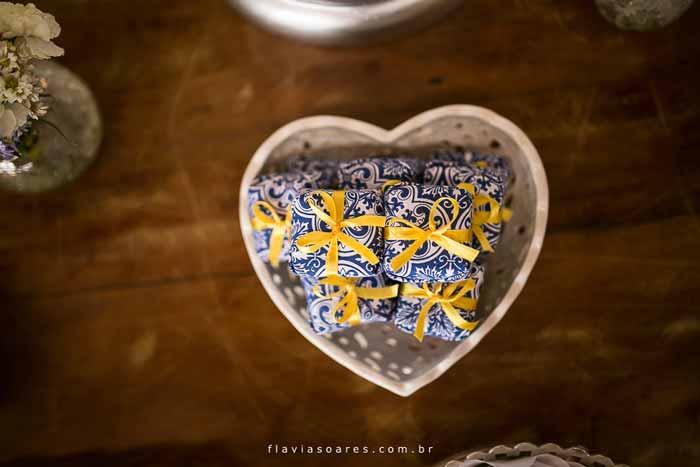 Decoração de casamento: Amarelo e azul