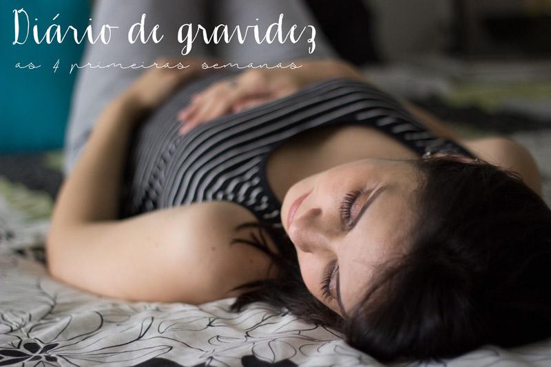Diário de gravidez: As primeiras 4 semanas