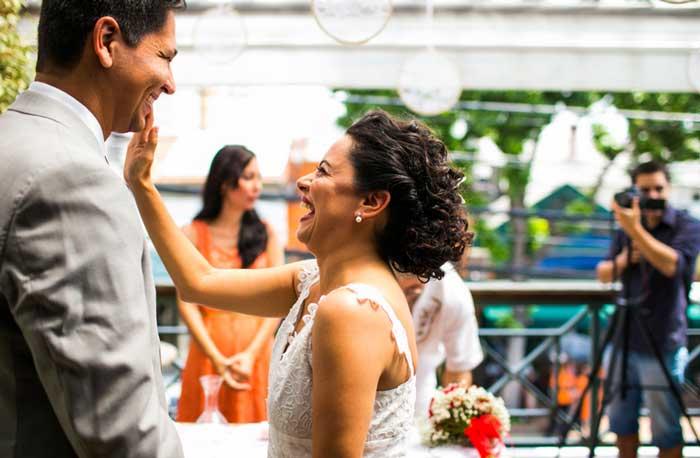 O mini wedding de Renata e Flávio