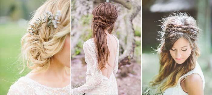 18 inspirações de penteado messy para noivas