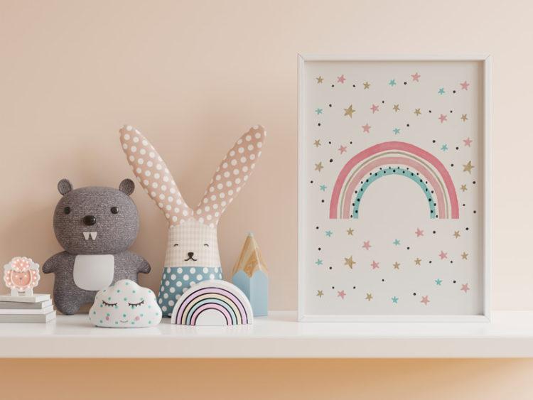 poster gratuito para quarto infantil - arco íris 1