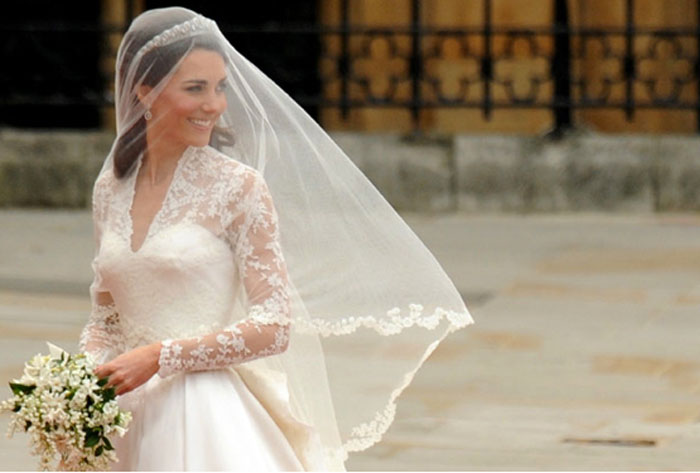 O vestido da princesa Kate