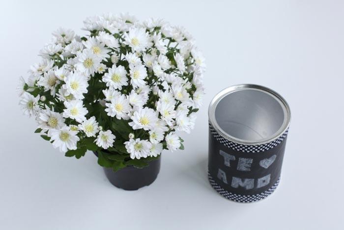 Faça você mesmo: vasinho com lata de alumínio